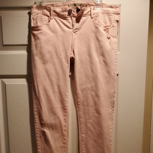 Zara light pink skinny jeans